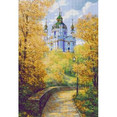 Вид на Андрееевскую церковь - Токарева А. - авторский набор для вышивки бисером