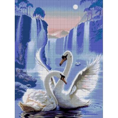 Лебеди - Токарева А. - авторский набор вышивки бисером