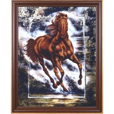 Набор для вышивки бисером - Магия канвы - Победный конь