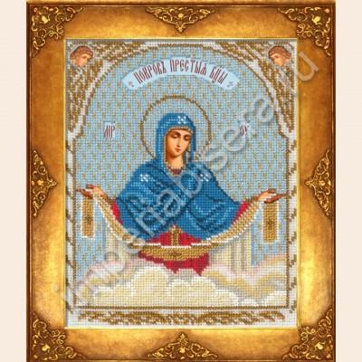 Икона Покров Пресвятой Богородицы  - Русская искусница - вышивка бисером икон