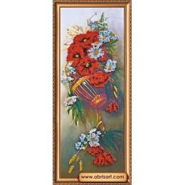Полевые цветы - Абрис Арт - набор для вышивки бисером