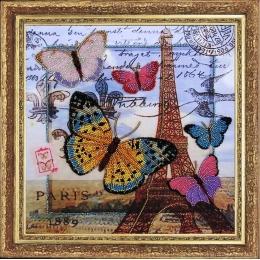 Набор для вышивки бисером - Butterfly - №107 Привет из Парижа