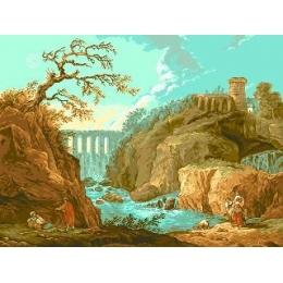 Река Тиволи (Х.Роберт) - Goblen Set - вышивка гобеленовым швом