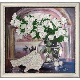 Набор для вышивки бисером - Butterfly - №214 Розы и голуби