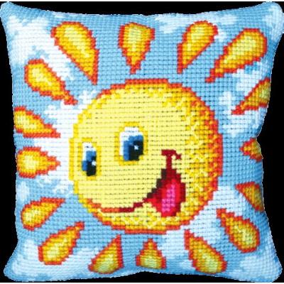 Набор вышивки крестом подушек - Чарівна мить - Солнышко