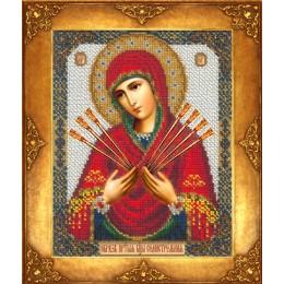 Икона Богоматерь Семистрельная - Русская искусница - вышивка бисером икон