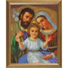 Святое Семейство (маленькая икона) - БС Солес - вышивка бисером икон