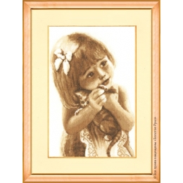 Любимый котенок - Золотое руно - набор вышивки крестом