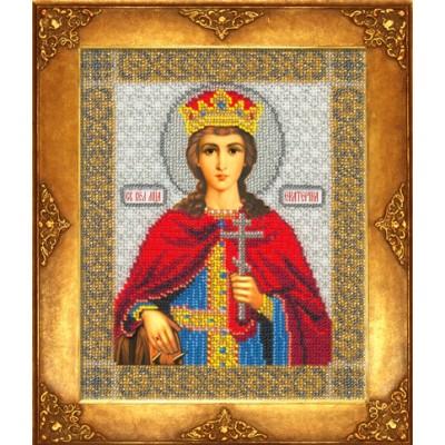 Икона Св. Екатерина - Русская искусница - вышивка бисером икон