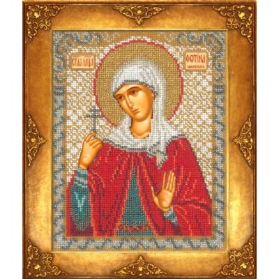 Икона Св. Светлана - Русская искусница - вышивка бисером икон