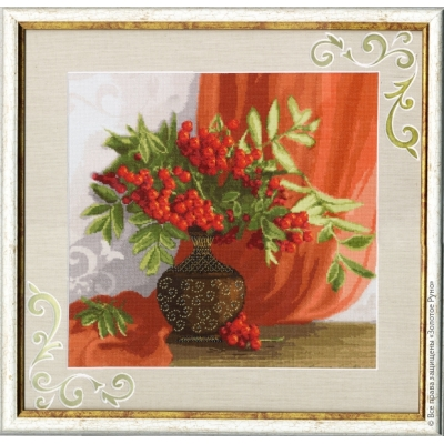 Красный натюрморт - Золотое руно - набор вышивки крестом