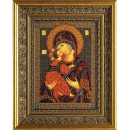Вышивка бисером икон - Кроше - Икона Владимирская Богородица