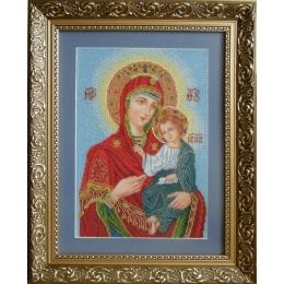 """Венчальная Пара """"Богородица Одигитрия"""" (маленькая) - БС Солес- набор для вышивки бисером икон"""