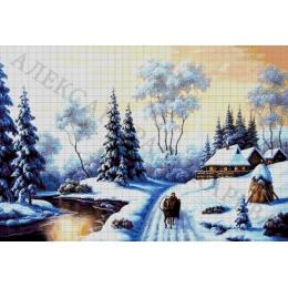 Авторский набор для вышивки бисером - Токарева А. - Зимняя стужа 42-3650-НЗ