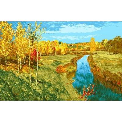 Золотая осень (Левитан) - Goblen Set - вышивка гобеленовым швом