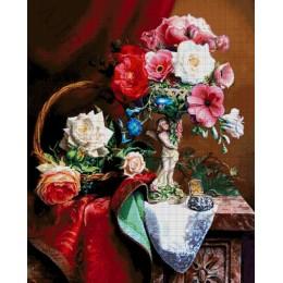 Авторский набор для вышивки бисером - Токарева А. - Цветочный натюрморт 57-4176-НЦ