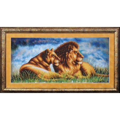 Набор для вышивки бисером - Магия канвы - Туманное утро. Львы