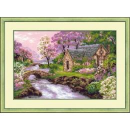 Весенний пейзаж - РИОЛИС - набор для вышивки крестом