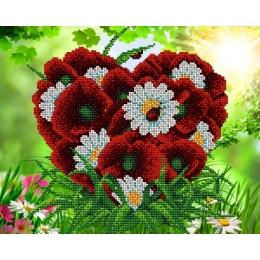 Влюбленное сердце - А-строчка - схема вышивки бисером