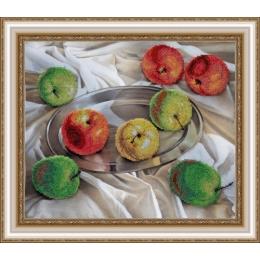 Яблочное ассорти - Картины бисером - набор для вышивки бисером