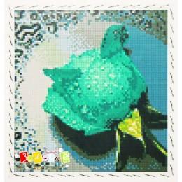 Набор для рисования камнями 7292 Зеленая роза