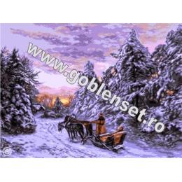 Зима на Кавказе - Goblen Set - вышивка гобеленовым швом