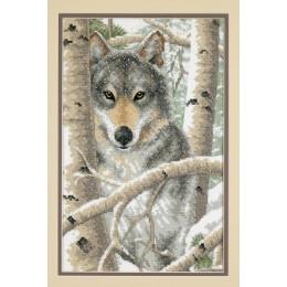 Набор для вышивки крестом - Dimensions - Wintry Wolf (Зимний волк)